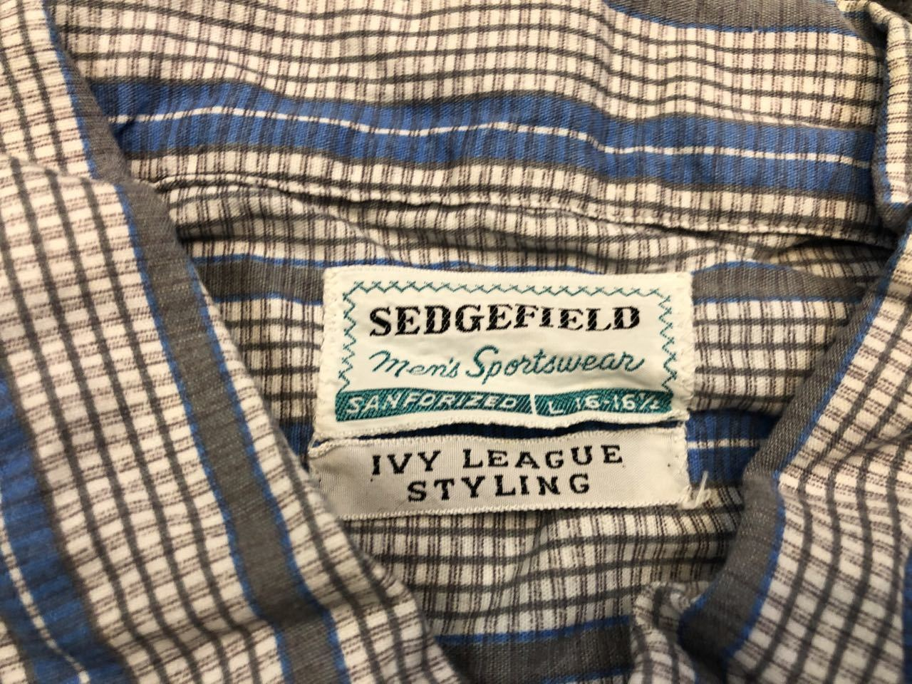 3月22日(日)入荷!60s SEDGEFIELD IVY LEAGUE STYLING B.D shirts!_c0144020_18155773.jpg