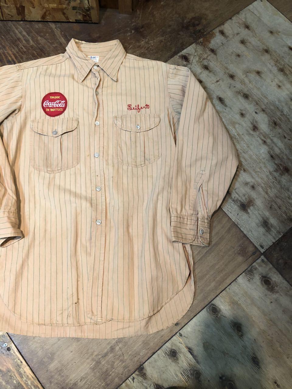 3月22日(日)入荷!40s マチ付き HBT Lee Coke Uniform ! コカコーラ ユニフォーム!_c0144020_18240564.jpg