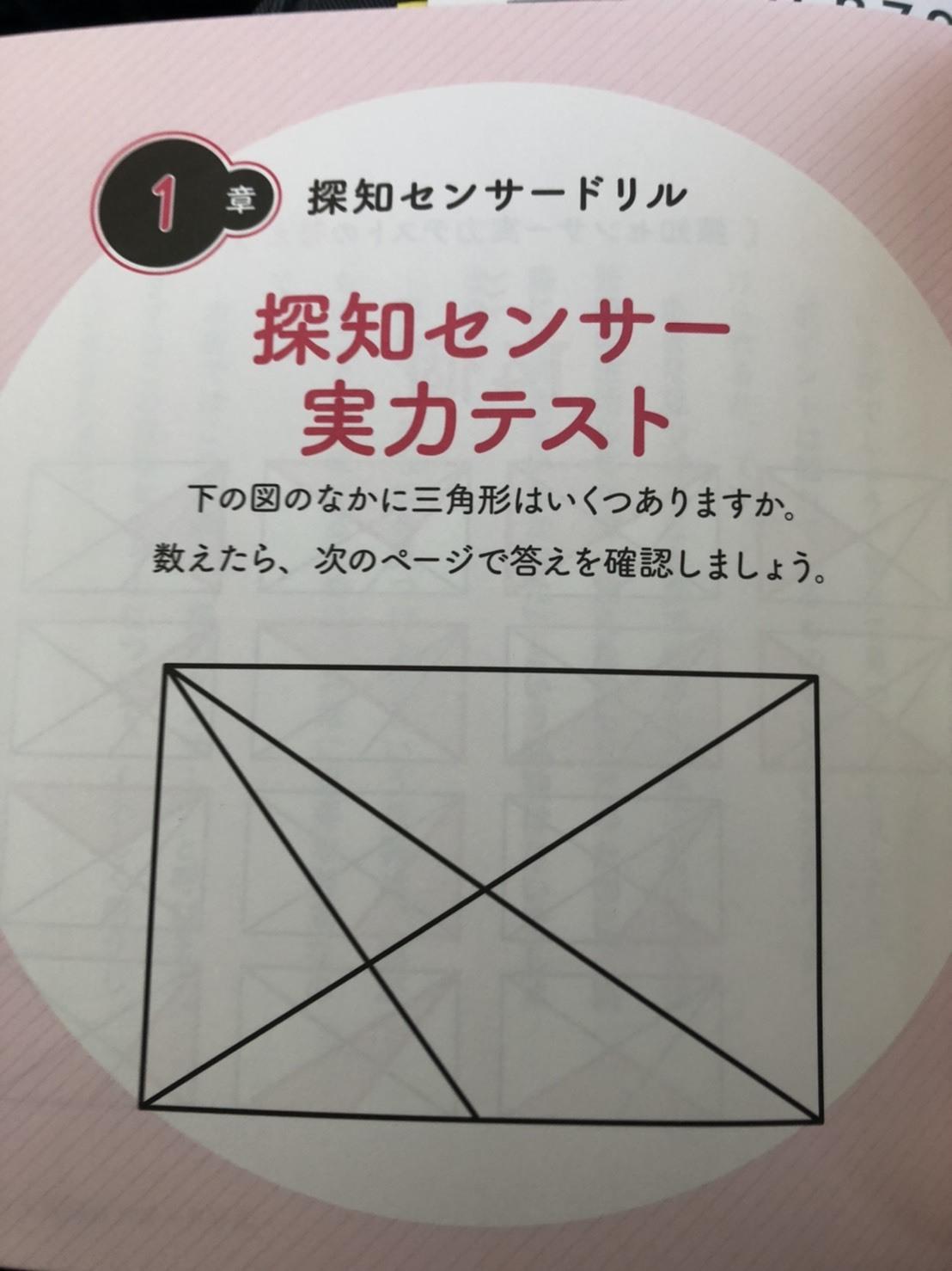 待ち時間にクイズです。三角形は幾つあるでしょう⁉️皆さんもご解答下さい。山田パンダも何秒で正解成るか⁉️_b0096957_14065125.jpg