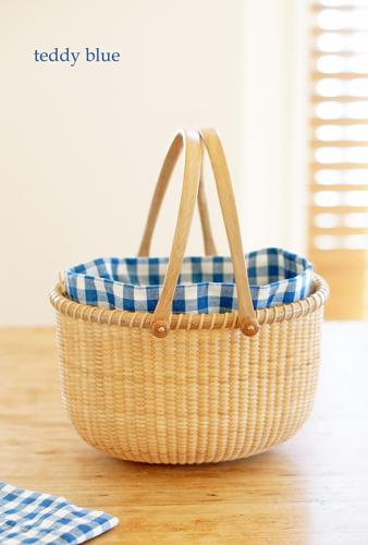 Nantucket basket with Gingham  ナンタケットバスケット*ギンガム_e0253364_11140326.jpg