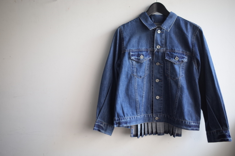 QUINOA BOUTIQUE◆10ozデニムプリーツJacket◆_e0269968_11520867.jpg