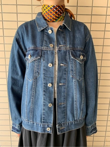 QUINOA BOUTIQUE◆10ozデニムプリーツJacket◆_e0269968_11523305.jpg
