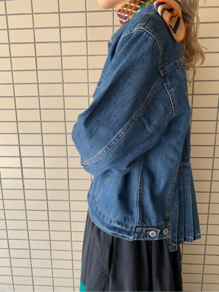 QUINOA BOUTIQUE◆10ozデニムプリーツJacket◆_e0269968_11523709.jpg