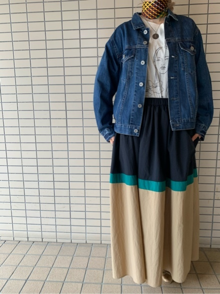 QUINOA BOUTIQUE◆10ozデニムプリーツJacket◆_e0269968_11524582.jpg