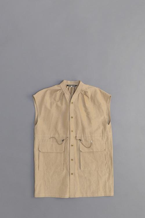 HAVERSACK Grosgrain Long Vest (Beige)_d0120442_1027317.jpg