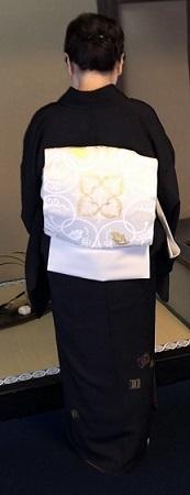 二条城煎茶会・源氏香の着物に葡萄唐草文様の帯。_f0181251_18375198.jpg