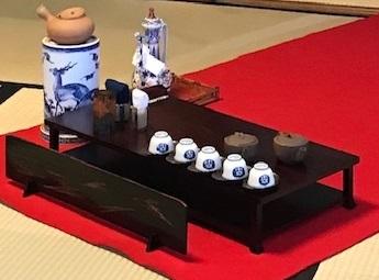 二条城煎茶会・源氏香の着物に葡萄唐草文様の帯。_f0181251_18412590.jpg