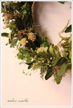かわきばな step2 ~春の芽吹きをイメージしたリース~_a0310054_11055570.jpg