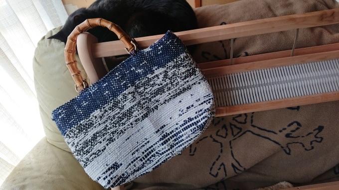 裂き織りのバッグ仕立てました♪_f0374160_20291082.jpg