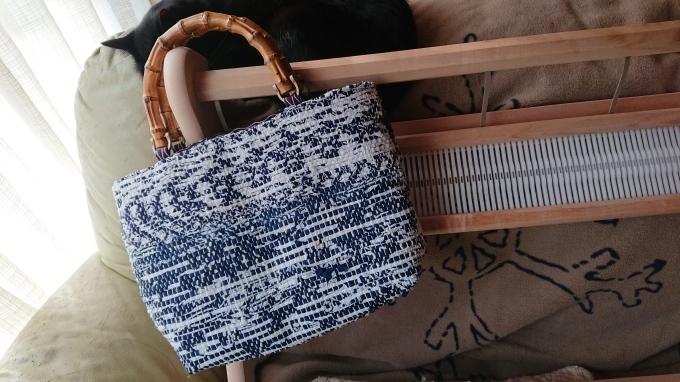 裂き織りのバッグ仕立てました♪_f0374160_20294029.jpg