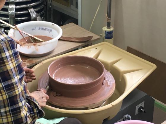 公民館で作陶、磁土と黒泥ともに200g…_b0232876_23080678.jpg