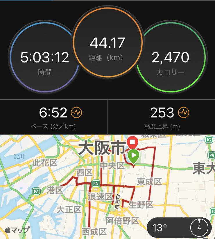 大阪マラソン試走_e0139376_20263473.jpg