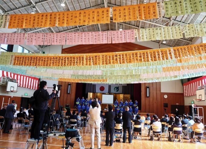 越知谷小学校卒業式とミニ閉校式に参加_d0265607_20245765.jpg