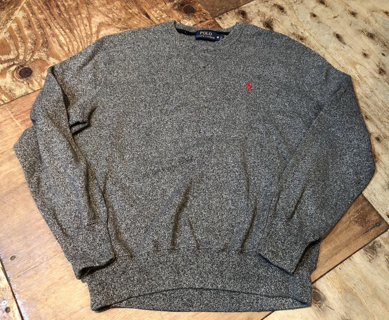 3月23日(月)入荷!Polo Ralph Lauren ラルフローレン  ソルトアンドペッパー スエットシャツ!_c0144020_13172493.jpg