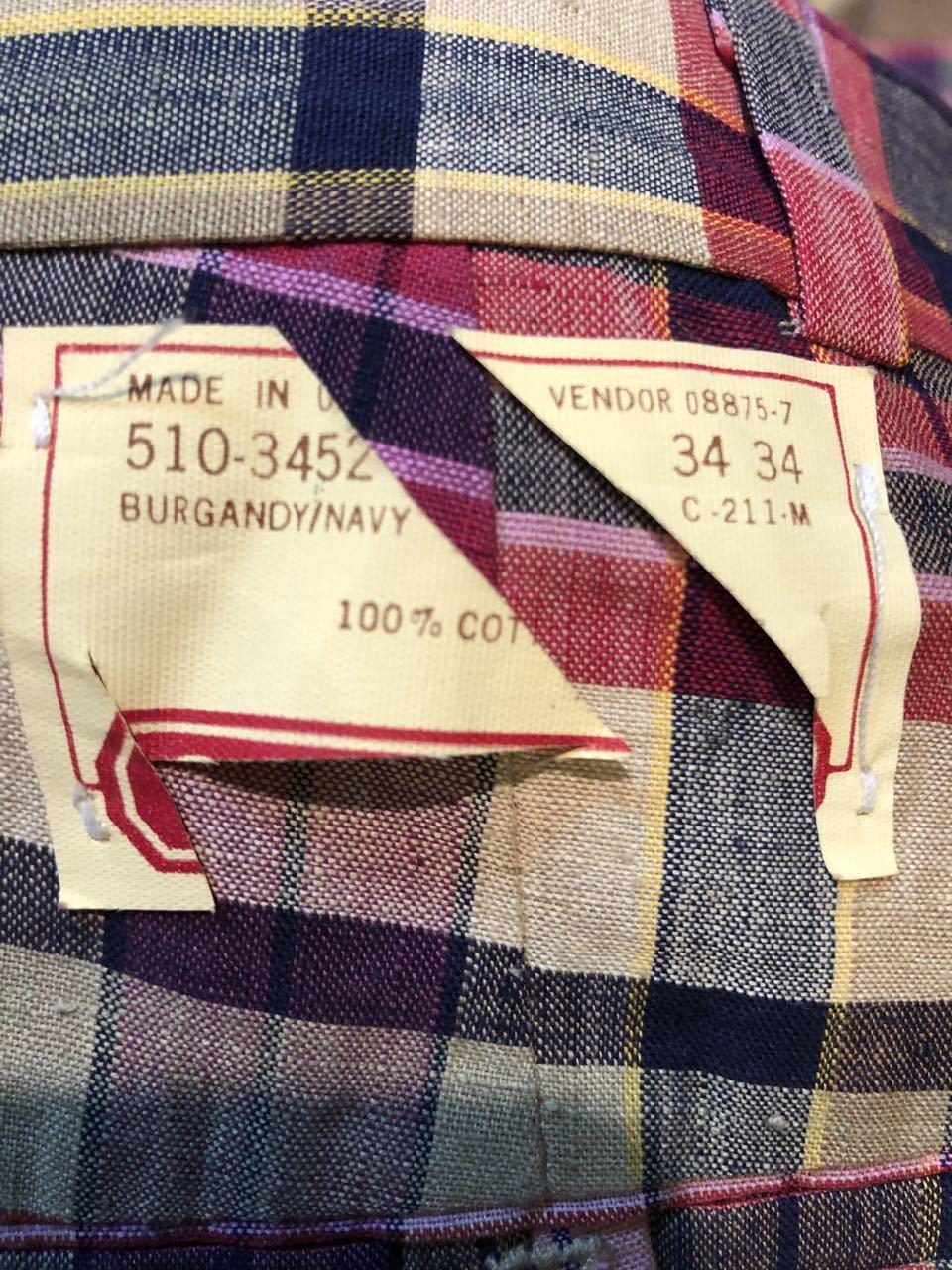 3月23日(月)入荷!80s  デッドストック Made in U.S.A インディアンマドラス IVY スラックス!_c0144020_13255889.jpg