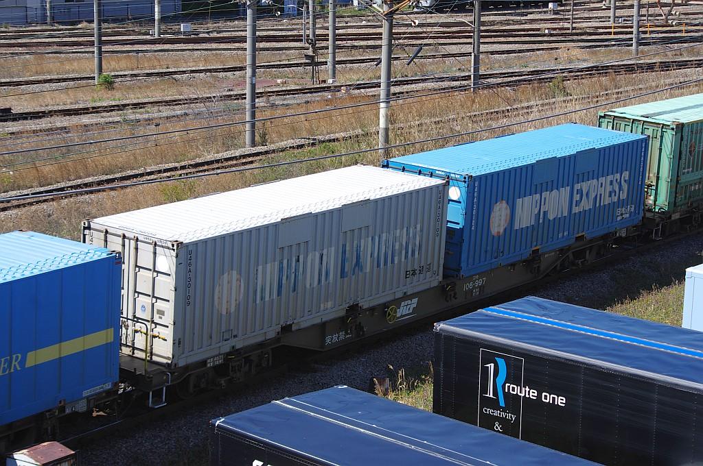 3/20東京貨物ターミナル着5052レのコキとコンテナ_f0203926_235774.jpg