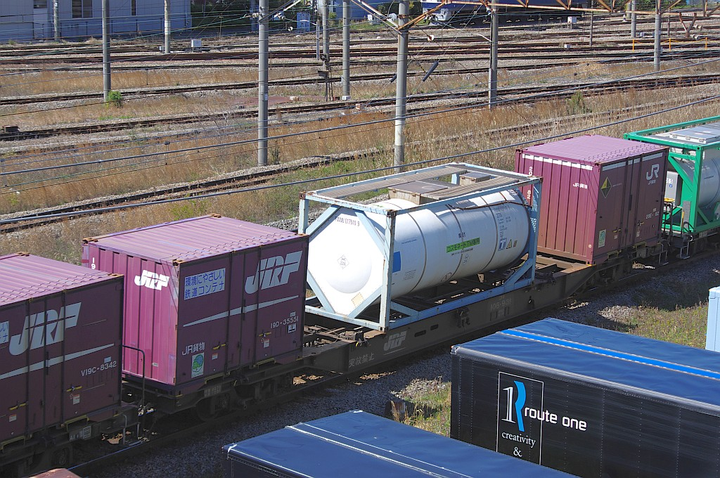3/20東京貨物ターミナル着5052レのコキとコンテナ_f0203926_236339.jpg