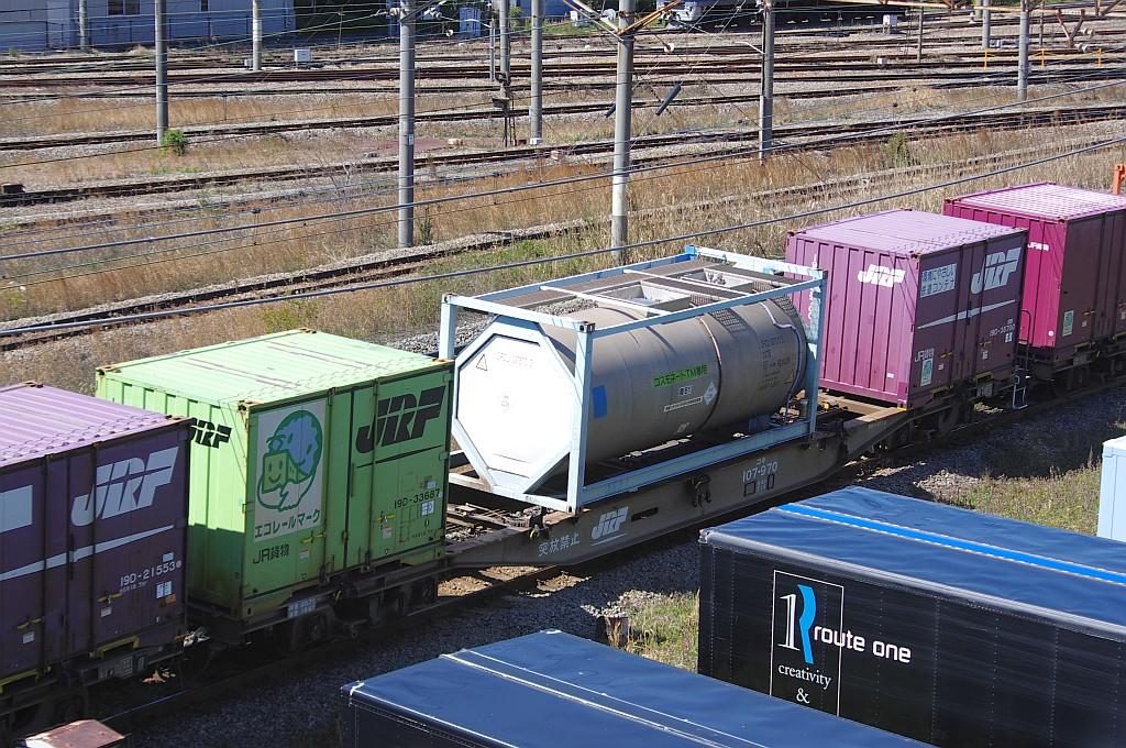 3/20東京貨物ターミナル着5052レのコキとコンテナ_f0203926_236882.jpg