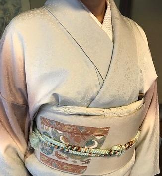 二条城煎茶会・野村エミさん・三眠蚕のぼかしの着物。_f0181251_16063336.jpg