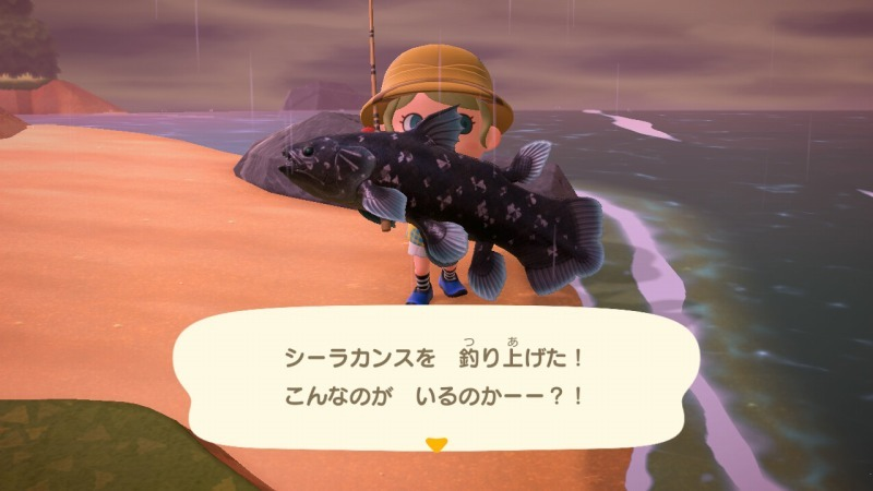 ゲーム「あつまれどうぶつの森 博物館オープン&シーラカンス釣り上げたぞ!!」_b0362459_22363302.jpg