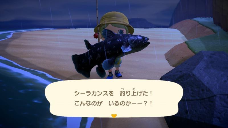 ゲーム「あつまれどうぶつの森 博物館オープン&シーラカンス釣り上げたぞ!!」_b0362459_22381636.jpg