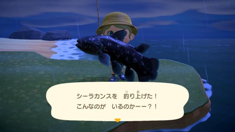 ゲーム「あつまれどうぶつの森 博物館オープン&シーラカンス釣り上げたぞ!!」_b0362459_22391352.jpg