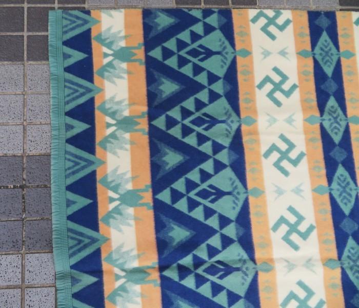 30\'s Beacon Blanket Swastika + 明日、水曜日は店休日となります。_e0187362_12482283.jpg