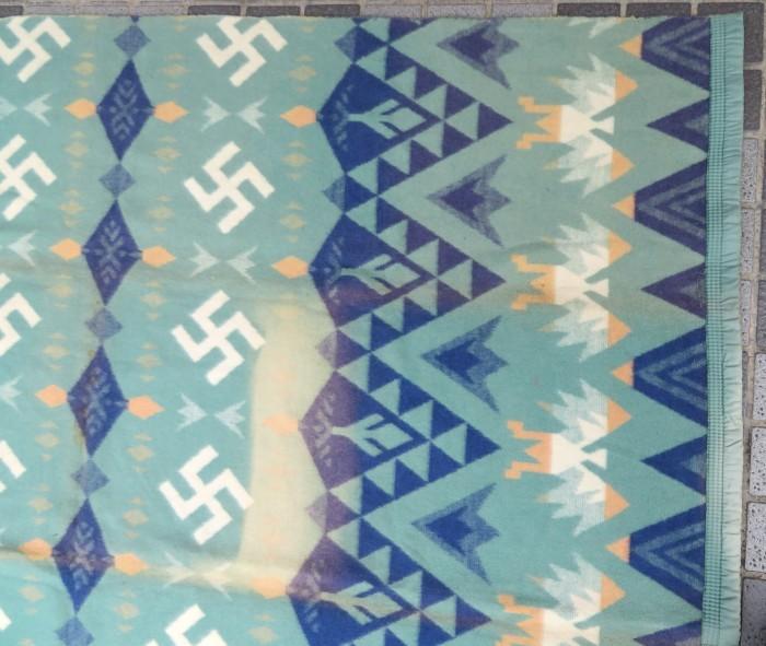 30\'s Beacon Blanket Swastika + 明日、水曜日は店休日となります。_e0187362_12491447.jpg