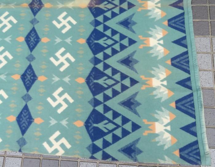 30\'s Beacon Blanket Swastika + 明日、水曜日は店休日となります。_e0187362_12494170.jpg