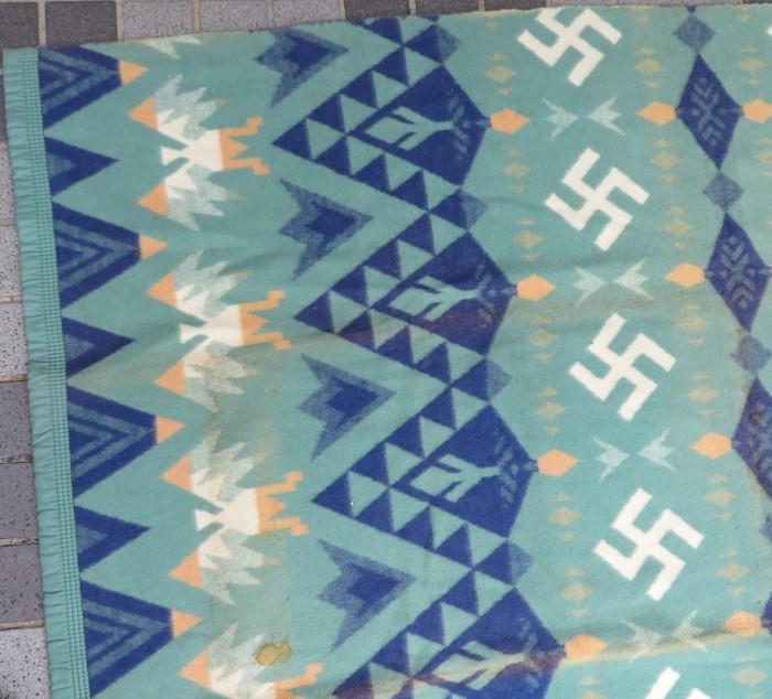 30\'s Beacon Blanket Swastika + 明日、水曜日は店休日となります。_e0187362_12500074.jpg