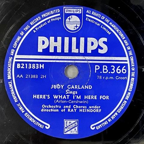 ジュディ・ガーランドのSP盤をアップしました_a0047010_12135690.jpg