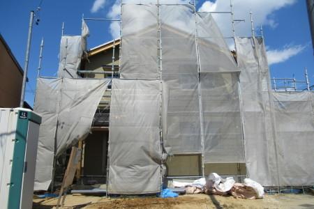 「駒場の家」左官外壁完了_b0179213_19121873.jpg