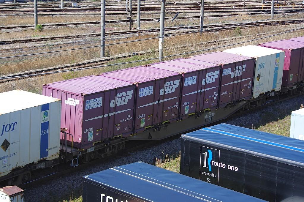 3/20東京貨物ターミナルにて1060レのコキとコンテナ_f0203926_21564614.jpg
