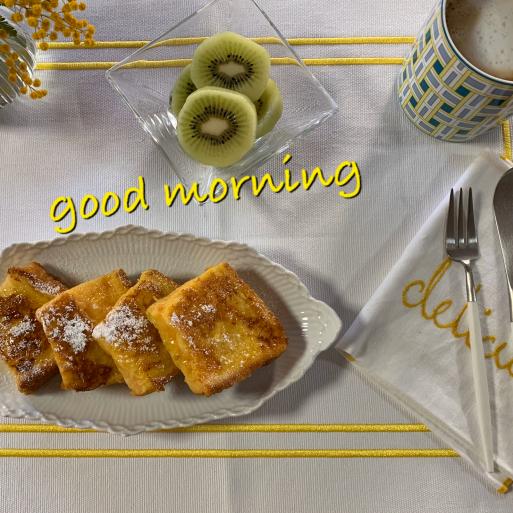フレンチトーストの朝食_c0223630_09132659.jpg