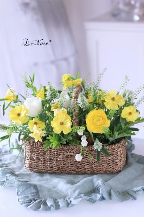 3月Living flowerクラスのアレンジ_e0158653_23571673.jpg