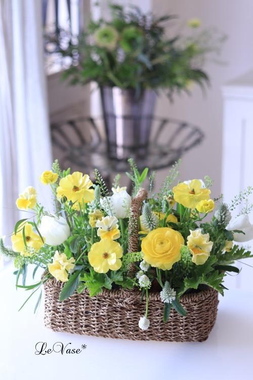 3月Living flowerクラスのアレンジ_e0158653_23572643.jpg