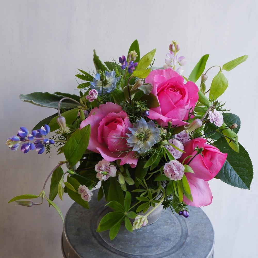 オークリーフ(イヴピアッチェと青い草花)_f0049672_12591063.jpg