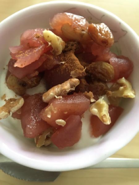 りんごの赤ワイン煮_f0188075_20044354.jpg