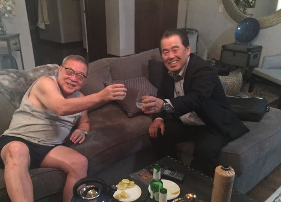 急遽、大野さんと車をとばして吉田会長のサンディエゴのご自宅へ。_c0186691_10205763.jpg