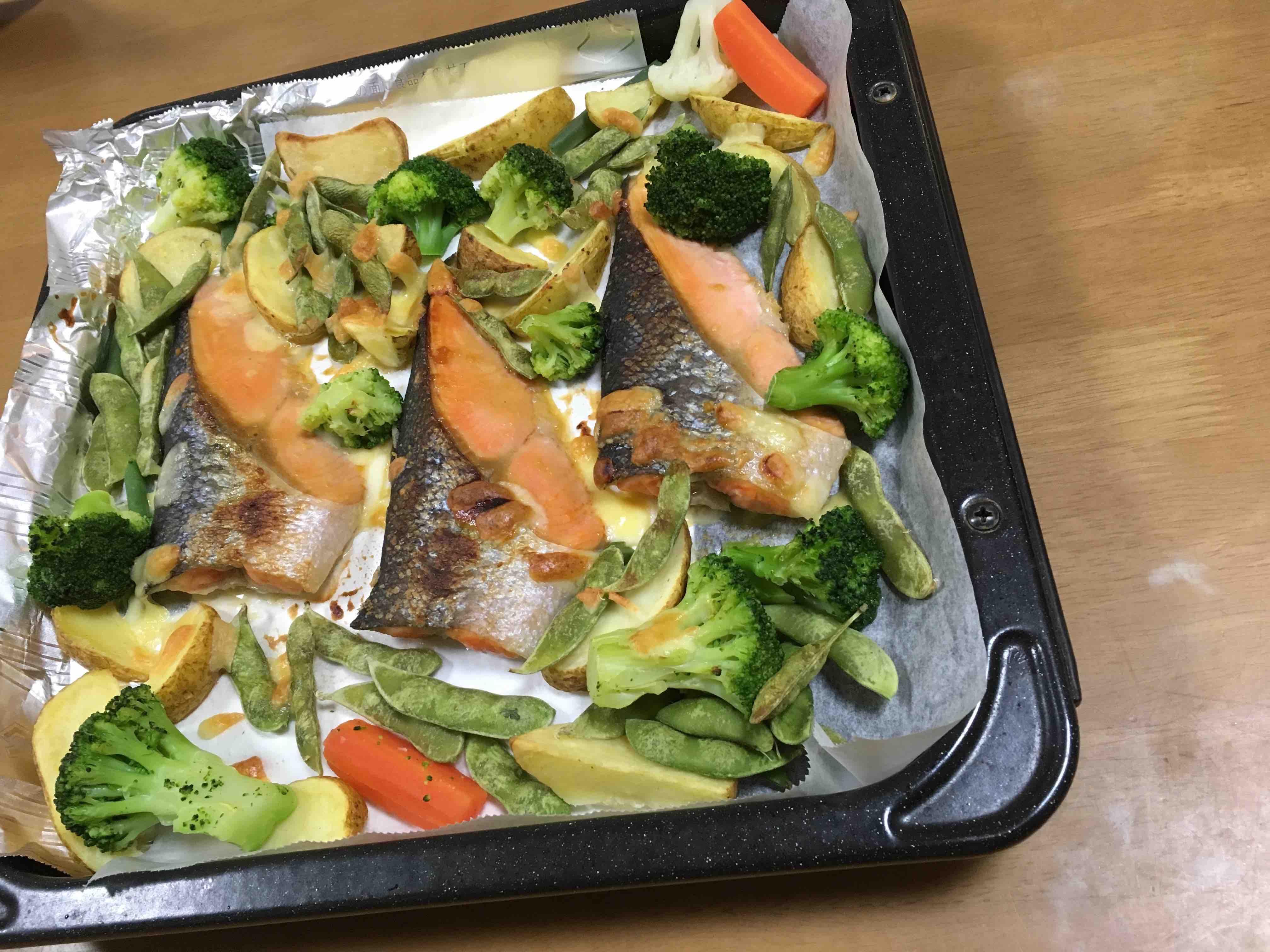 魚のオーブン焼き_d0164691_1994534.jpg