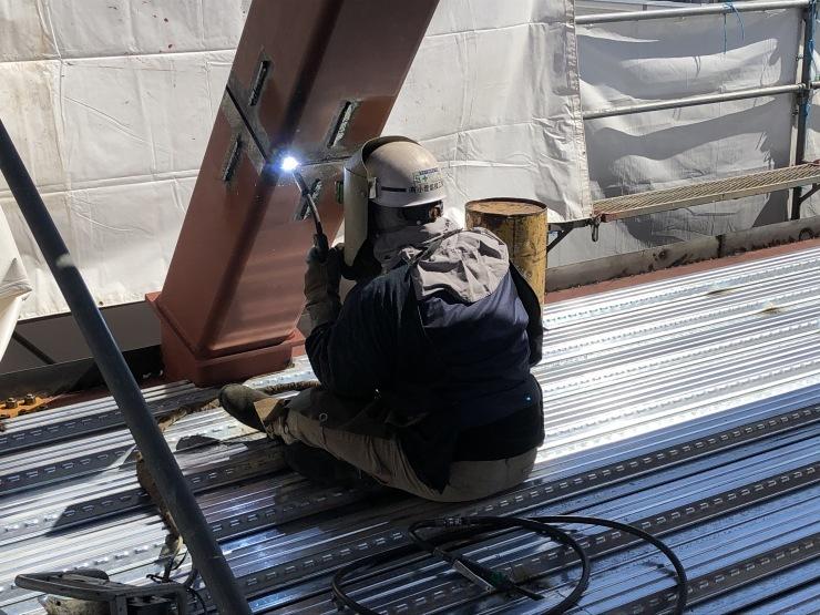 りぶうぇる練馬ディサービスセンター(11)   デッキプレート施工終了_b0074416_21024421.jpeg