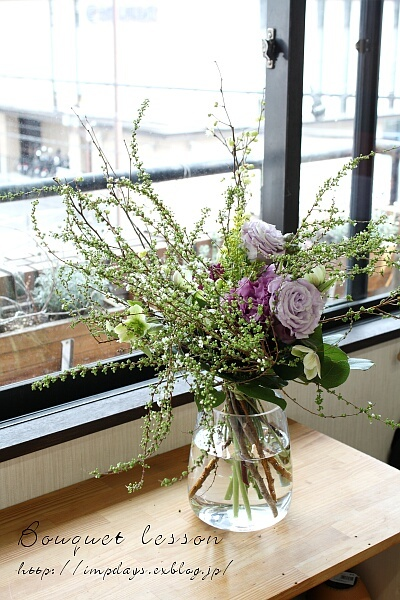 季節を楽しむ 花束レッスン 雪柳_a0085317_13264355.jpg