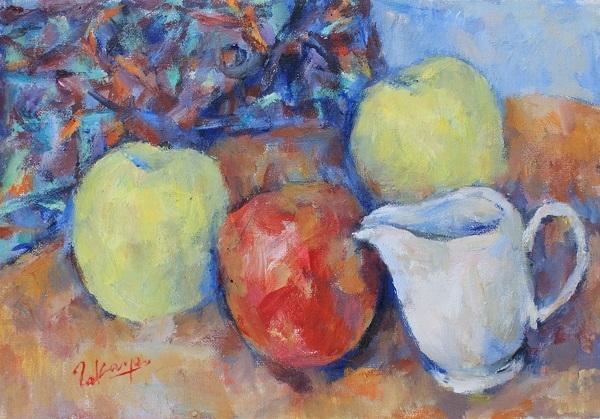 ミルク差しとリンゴ_c0236929_17293889.jpg