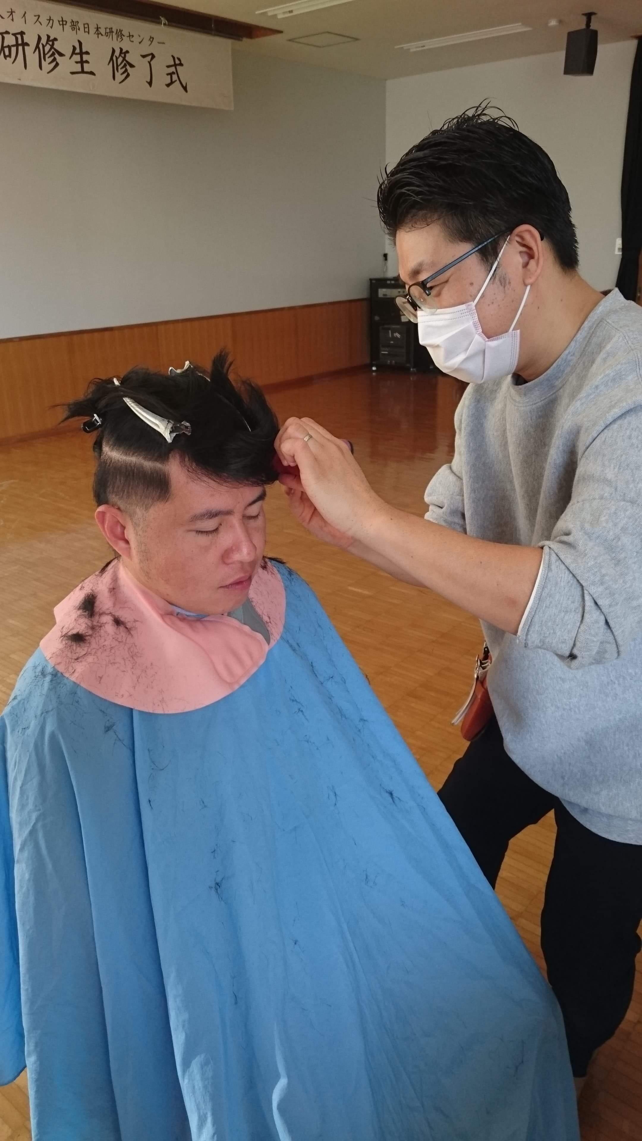訪問美容で社会貢献☆オイスカ中部日本研修センターにて_f0277245_15180838.jpeg