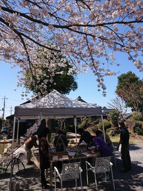 桜満開🌸つくば「ここちテリア」で…「陶芸体験イベント」_f0323446_20314133.jpg