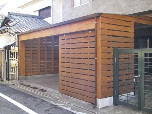 木製ガレージ_c0019551_19573793.jpg