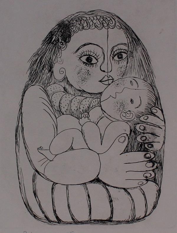 4月の常設 北川民次の母子像_c0122967_16501794.jpg