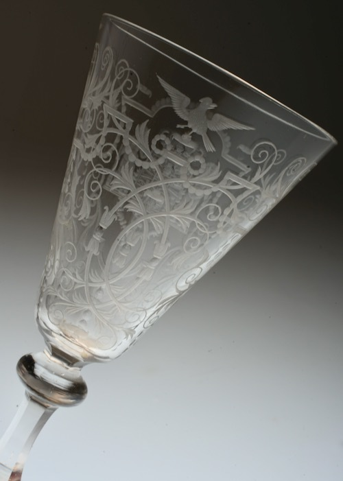 Lobmeyr No:54 Danmark Coat of arms glass_c0108595_23413465.jpeg
