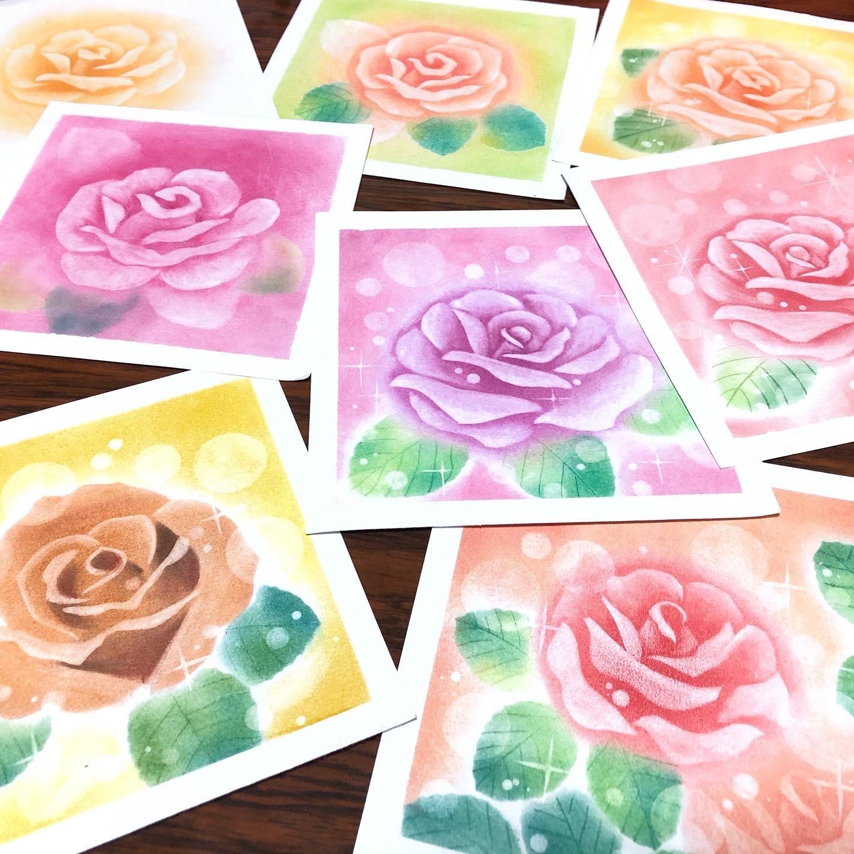 バラの花を何度も試作しています_d0377316_10135309.jpg
