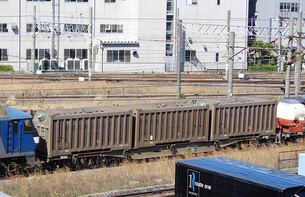 3/20東京貨物ターミナル発4095レのコキとコンテナ_f0203926_21580442.jpg